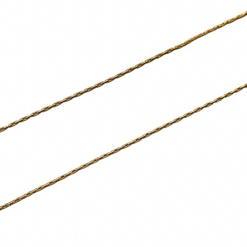 CR256 - Corrente L-90 0.7mm Banhado Cor Dourado - 1metro
