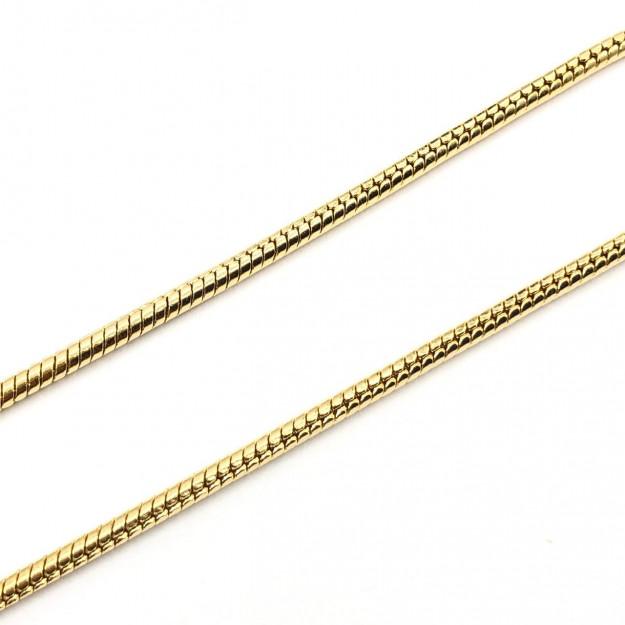 CR277 - Corrente Rabo de Rato 3mm Banhado Cor Dourado - 1metro