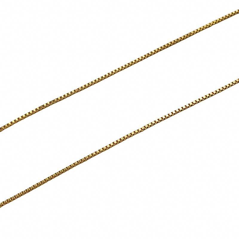 CR394 - Corrente Veneziana 1.0mm Banhado Cor Dourado - 1metro