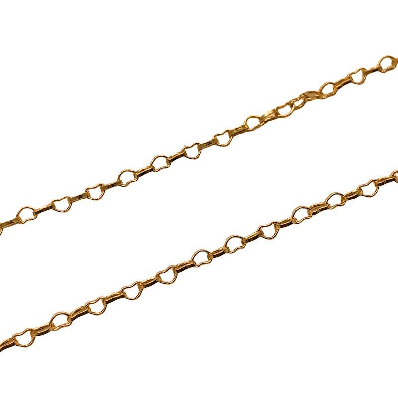 CR406 - Corrente Coração 2mm Banhado Cor Dourado - 1metro