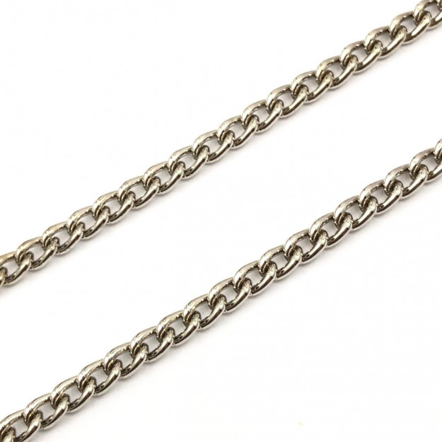CR40 - Corrente de Alumínio 1.0 Grume Níquel - 1metro