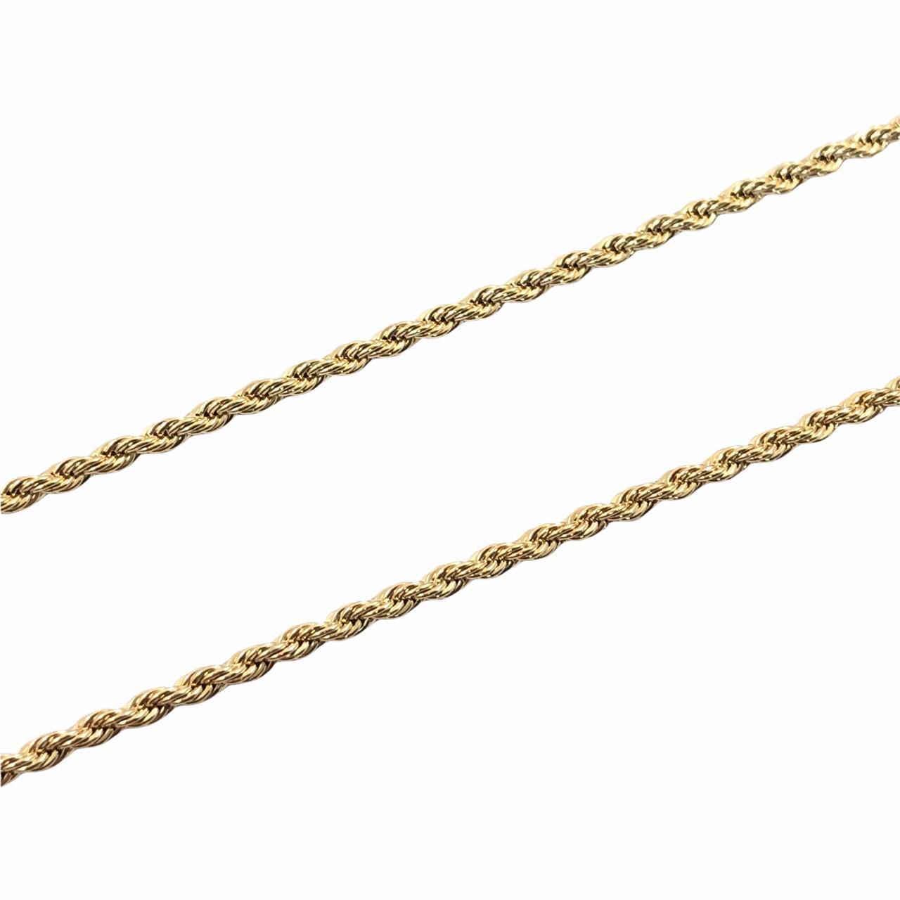 CR415 - Corrente Cordão Baiano 2mm Banhado Cor Dourado - 1metro