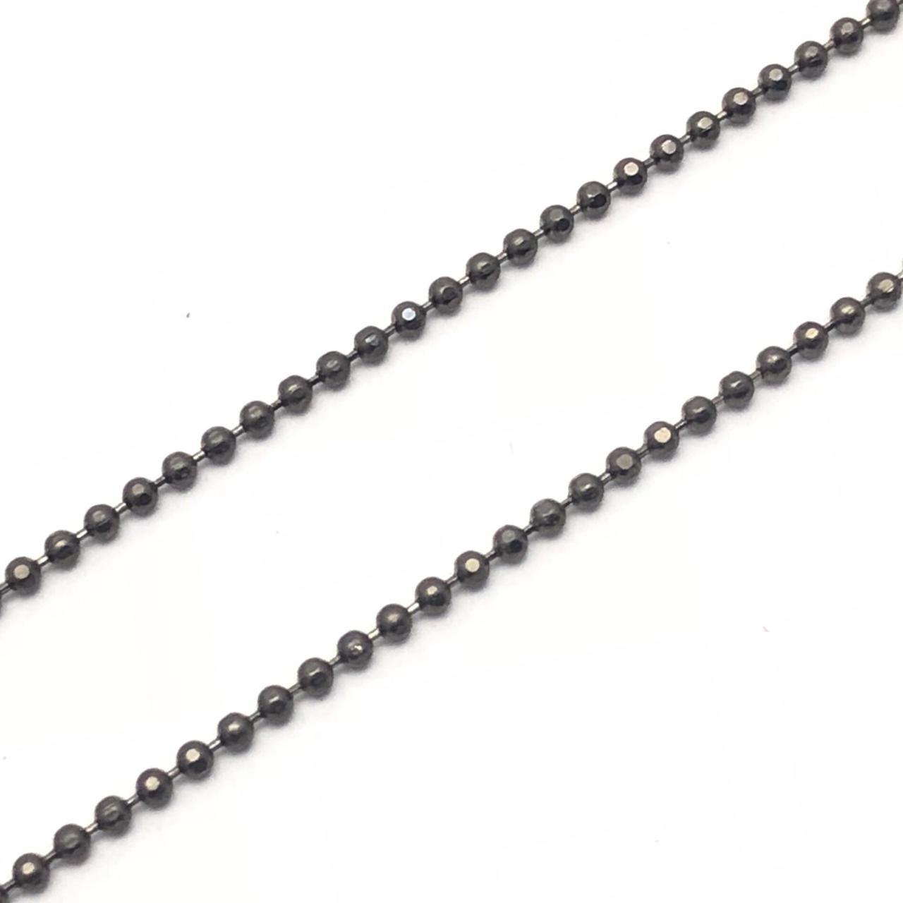 CR88 - Corrente de Bolinha 1.5 Grafitte Diamantada Grafite - 1metro