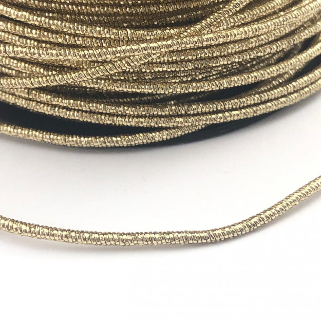 CRM016 - Arame Revestido Metalizado de Poliester 2mm Dourado - 1metro