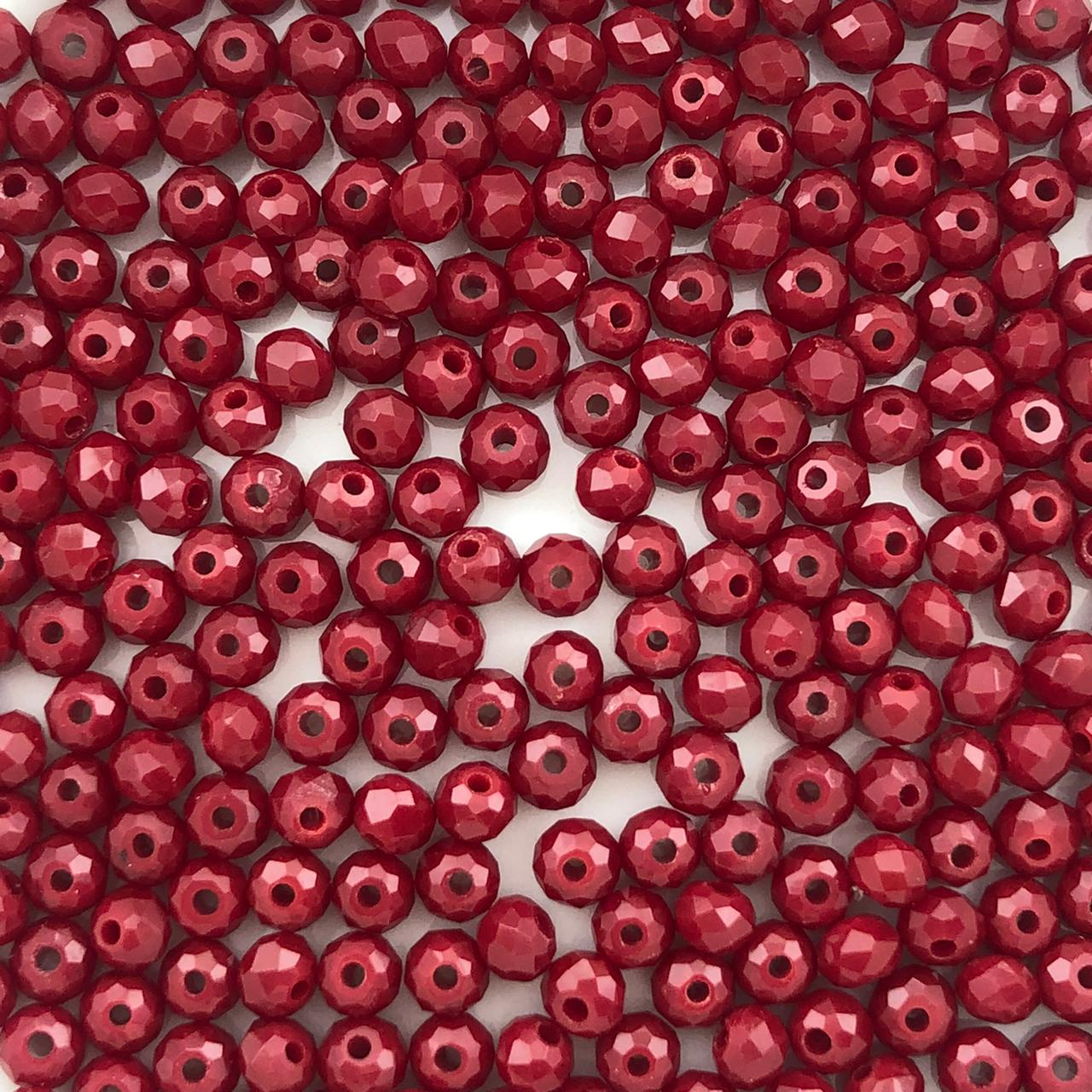 CRT037 - Cristal Vermelho Marsala 3mm - 140Unids
