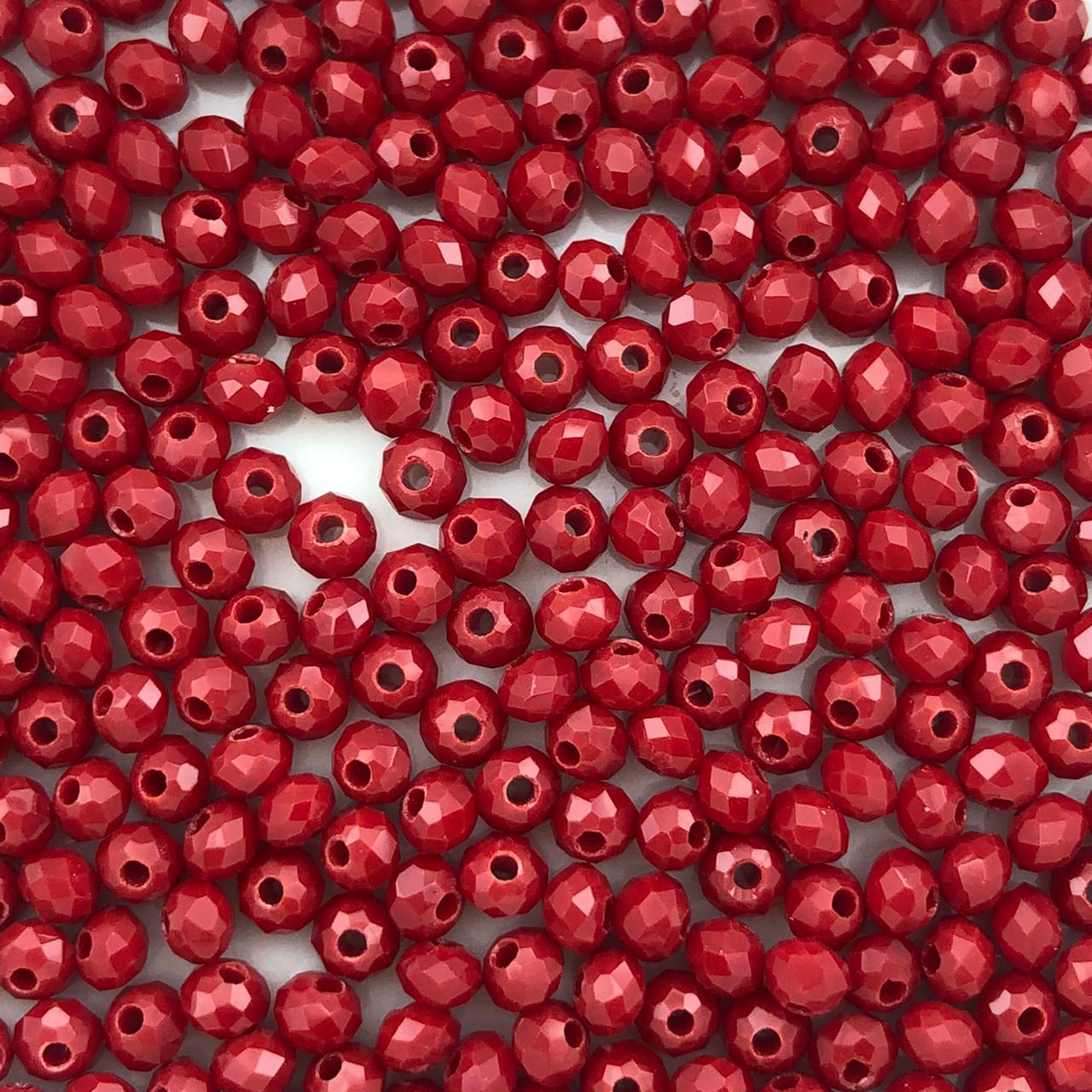 CRT051 - Cristal Vermelho 3mm - 140Unids