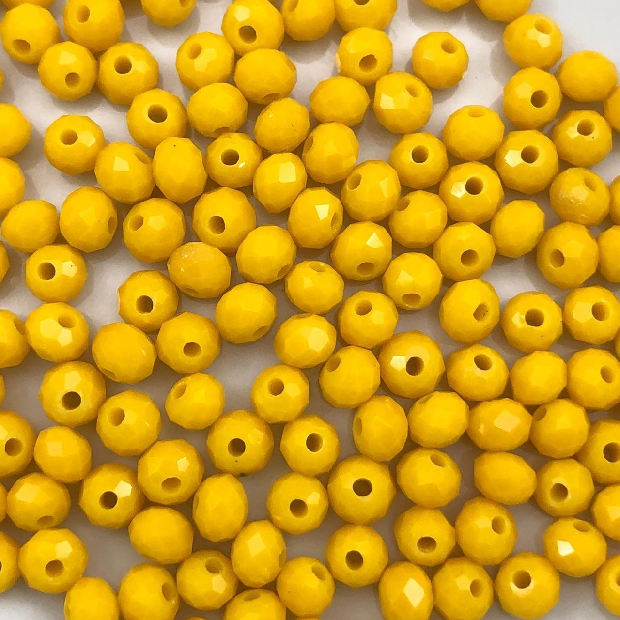 CRT118 - Cristal Amarelo Gema 4mm - 150Unids