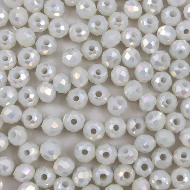 CRT119 - Cristal no Fio Branco Irizado 4mm - 150Unids