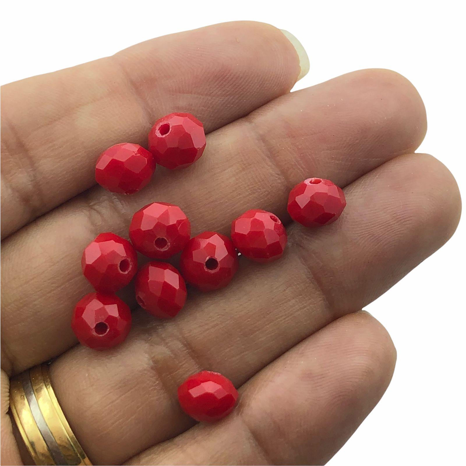 CRT272 - Cristal Vermelho 8mm - 65Unids