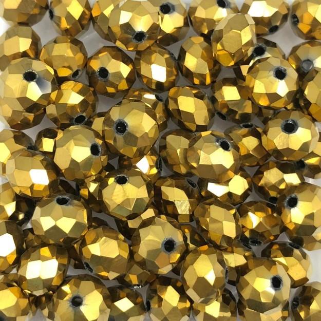 CRT282 - Cristal Dourado 8mm - 72Unids