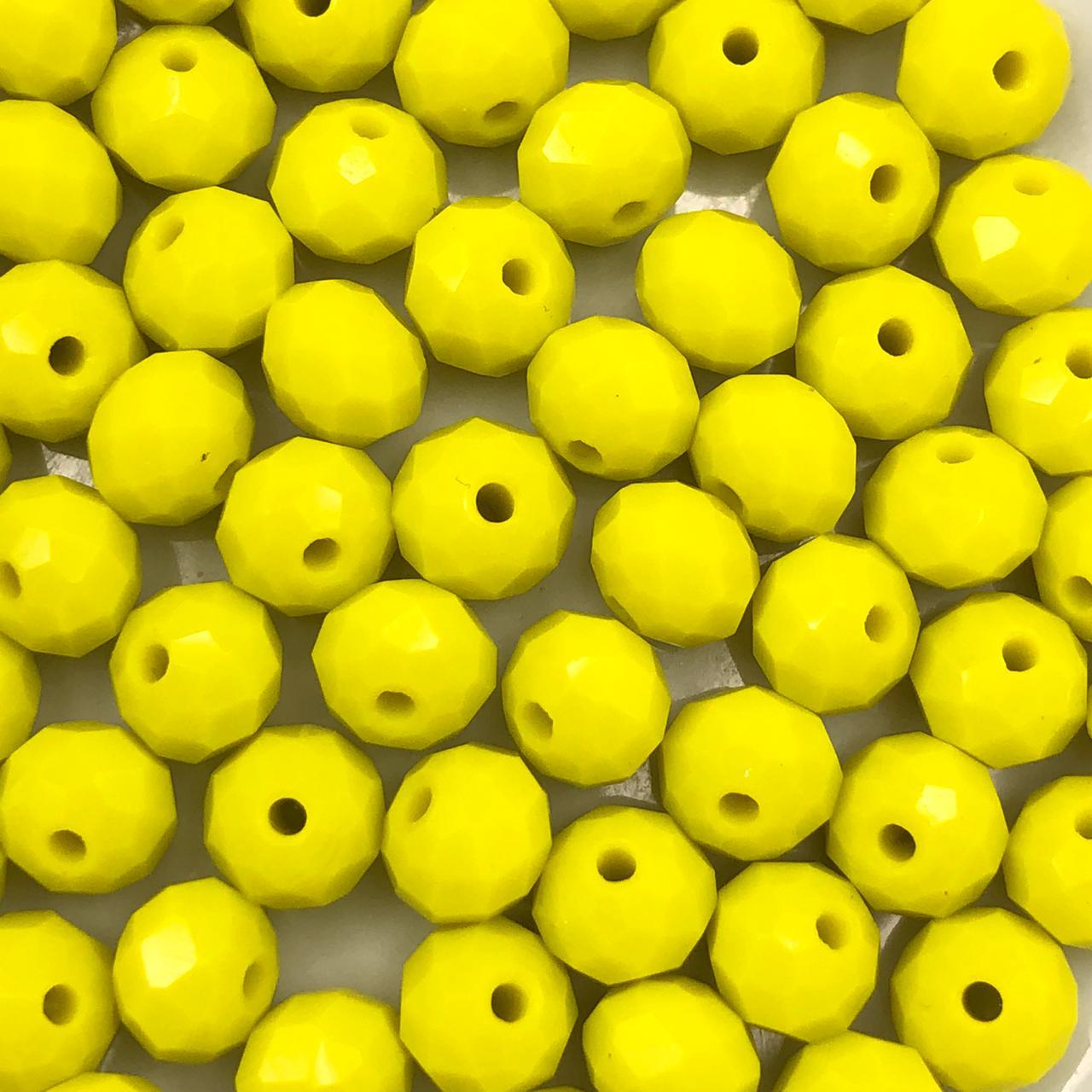 CRT385 - Cristal Amarelo 8mm - 65Unids