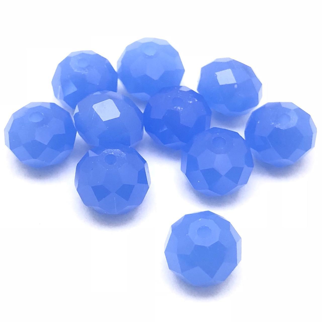 CRT406 - Cristal no Fio Azul Bozzano 10mm - 72Unid