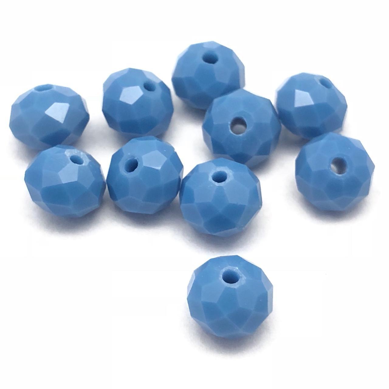 CRT410 - Cristal no Fio Azul Jeans 8mm - 72Unid