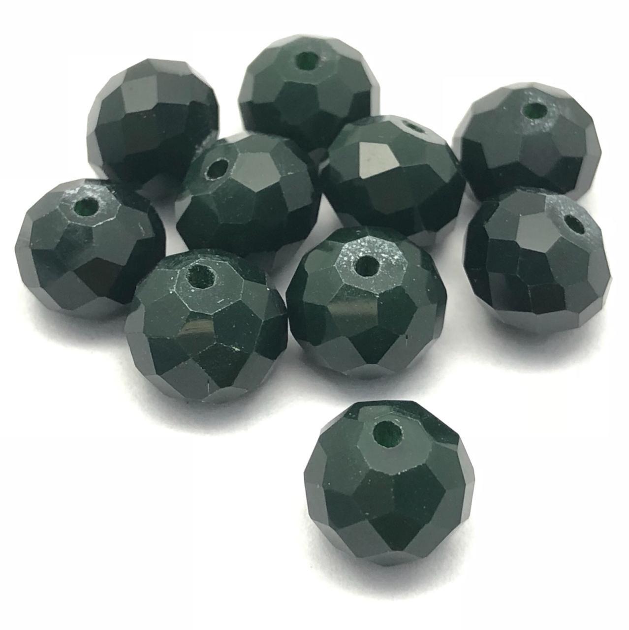 CRT420 - Cristal no Fio Verde Pasto 10mm - 72Unid