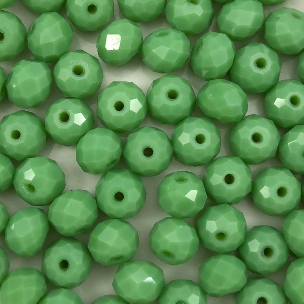 CRT422 - Cristal Verde Ervilha 8mm - 72Unids