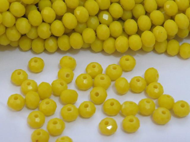 CRT441 - Cristal no Fio Amarelo 6mm - 100Unid
