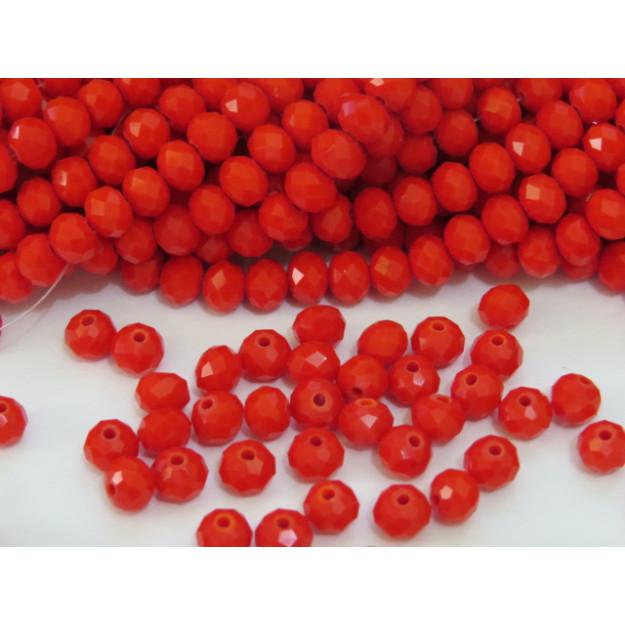 CRT493 - Cristal no Fio Vermelho 6mm - 100Unid