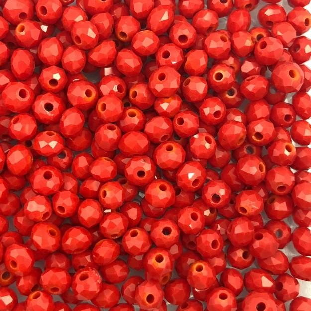 CRT497 - Cristal Vermelho 4mm - 150Unids