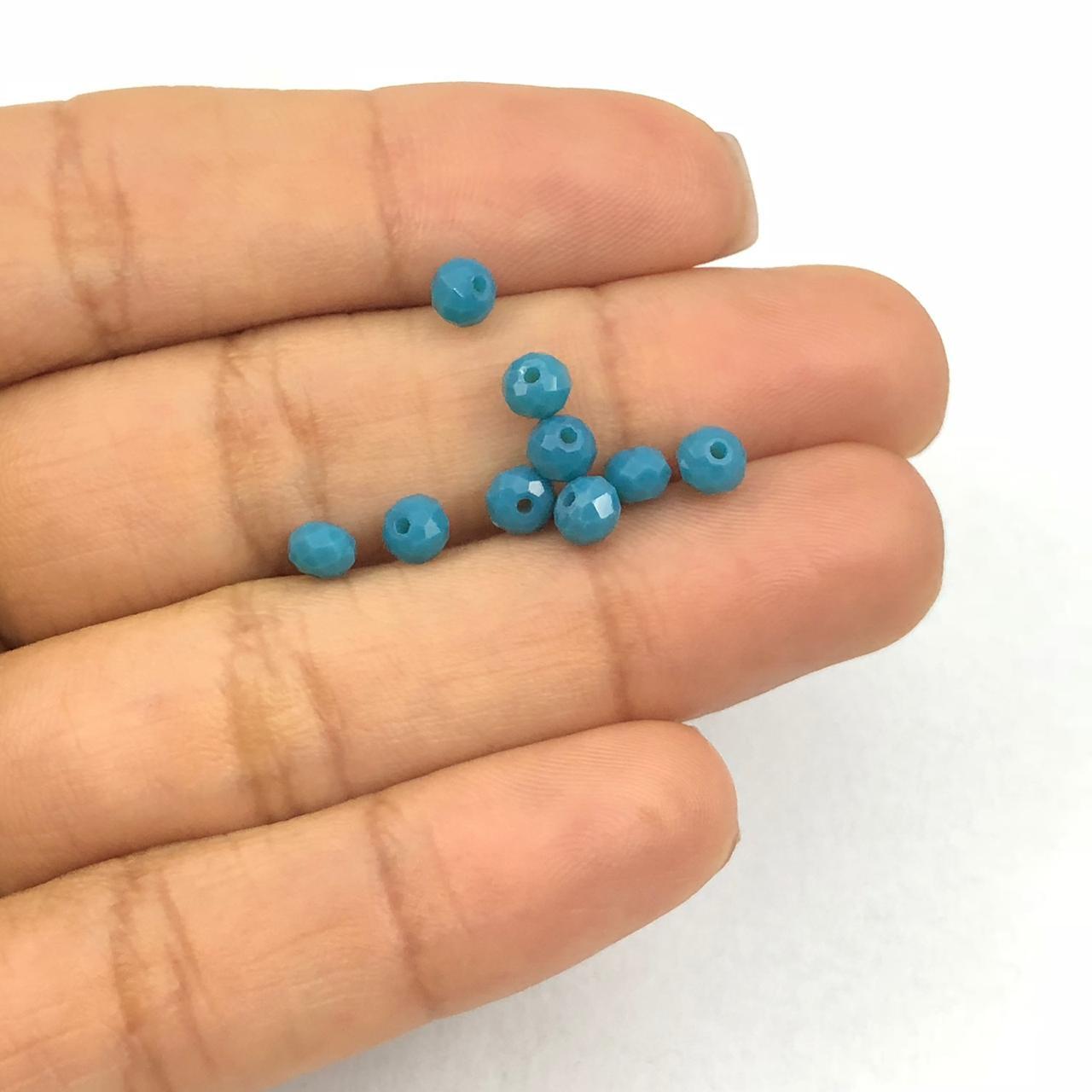 CRT504 - Cristal Azul Pavão 4mm - 150Unids