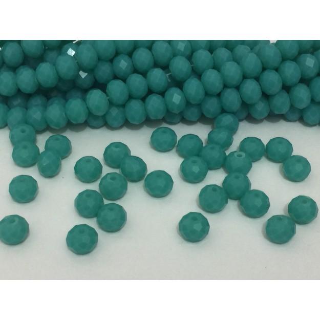 CRT519 - Cristal no Fio Verde Turquesa 8mm - 72Unid