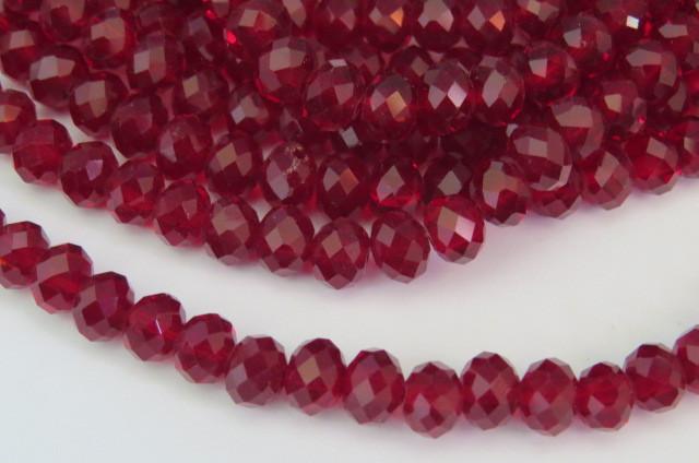 CRT550 - Cristal no Fio Ruby 4mm - 150Unid