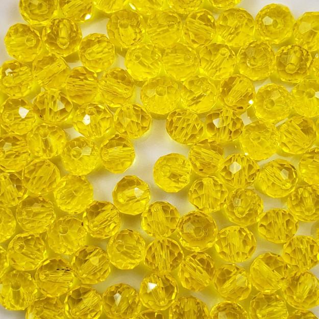 CRT594 - Cristal Amarelo Transparente 6mm - 100Unids