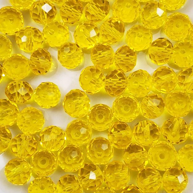 CRT603 - Cristal Amarelo Transparente 8mm - 72Unids