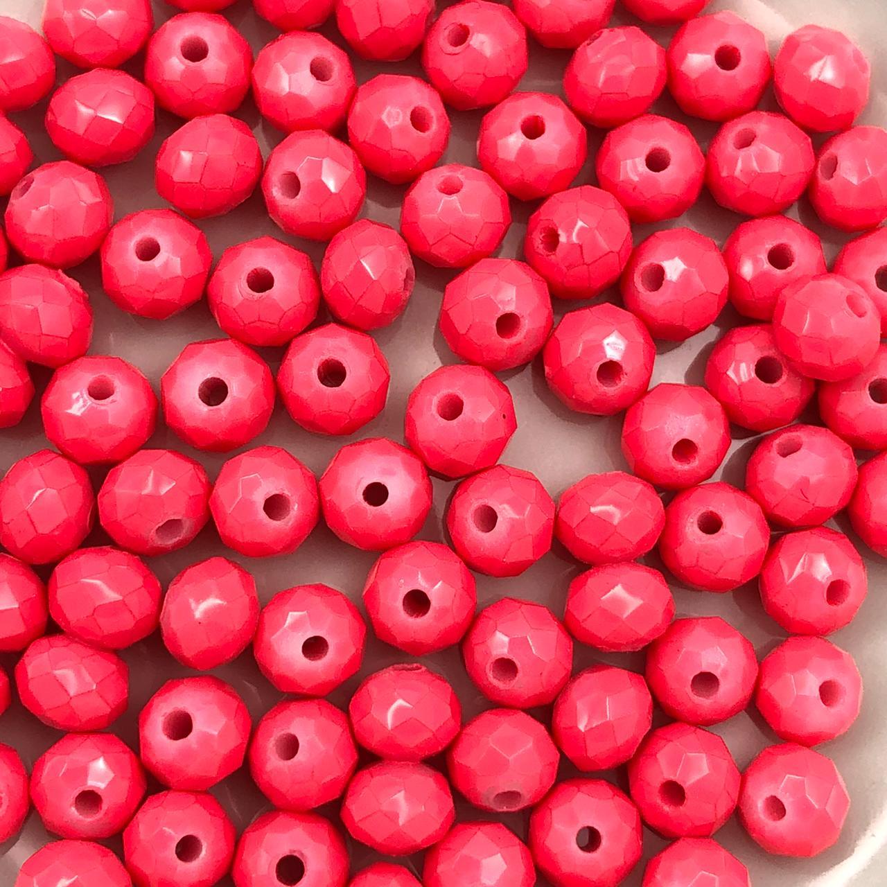 CRT615 - Cristal Rosa Neon 6mm - 90Unids