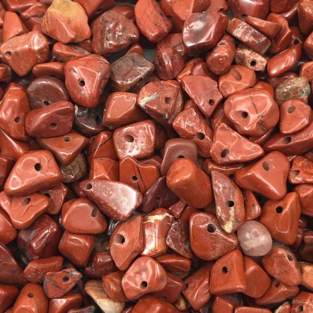 CS08 - Cascalho Pedra Jaspe Vermelha - 30Grs