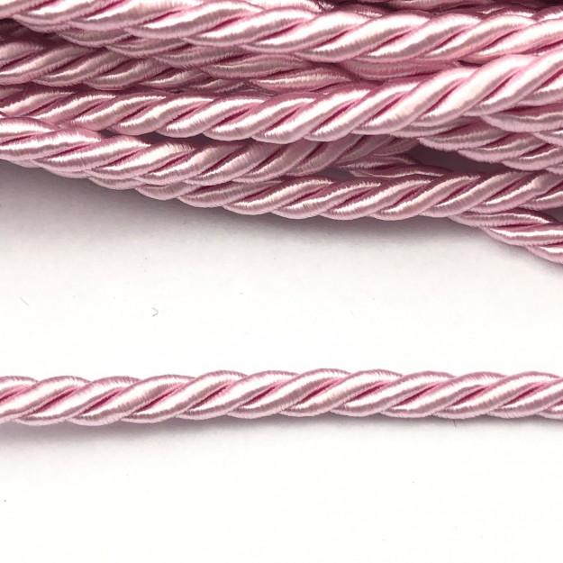 CSF002 - Cordão de São Francisco 5mm Rosa Bebe - 1metro