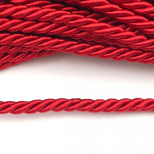 CSF004 - Cordão de São Francisco 5mm Vermelho - 1metro