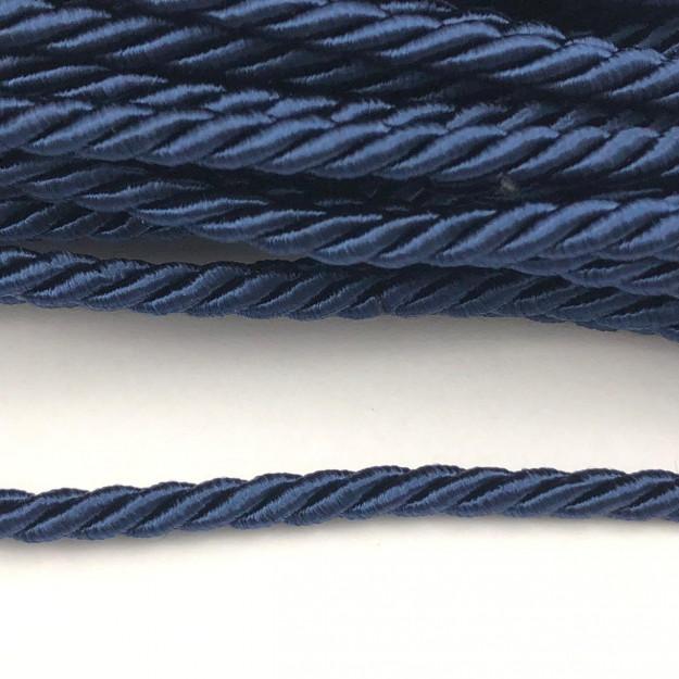 CSF011 - Cordão de São Francisco 5mm Azul Marinho - 1metro