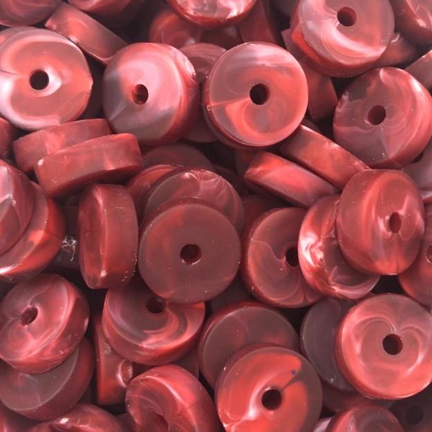 DR12 - Disco de Resina Emborrachado Vermelho 14mm - 10Grs
