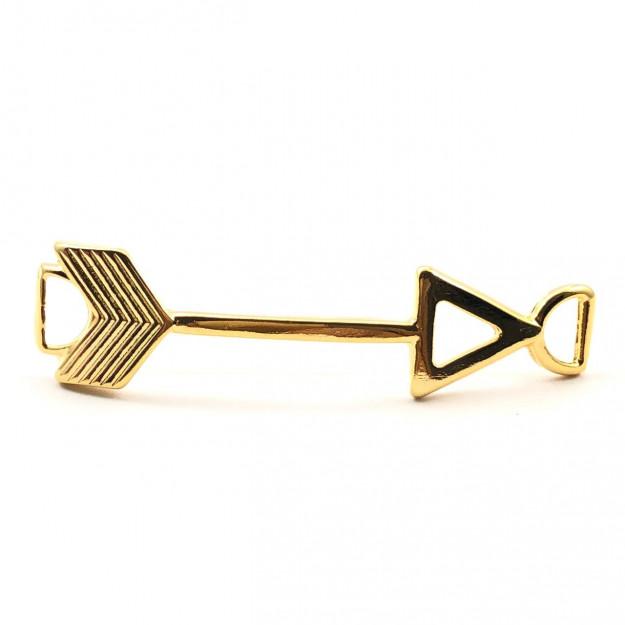 ETM390 - Entremeio Flecha Banhado Cor Dourado - 1Unid