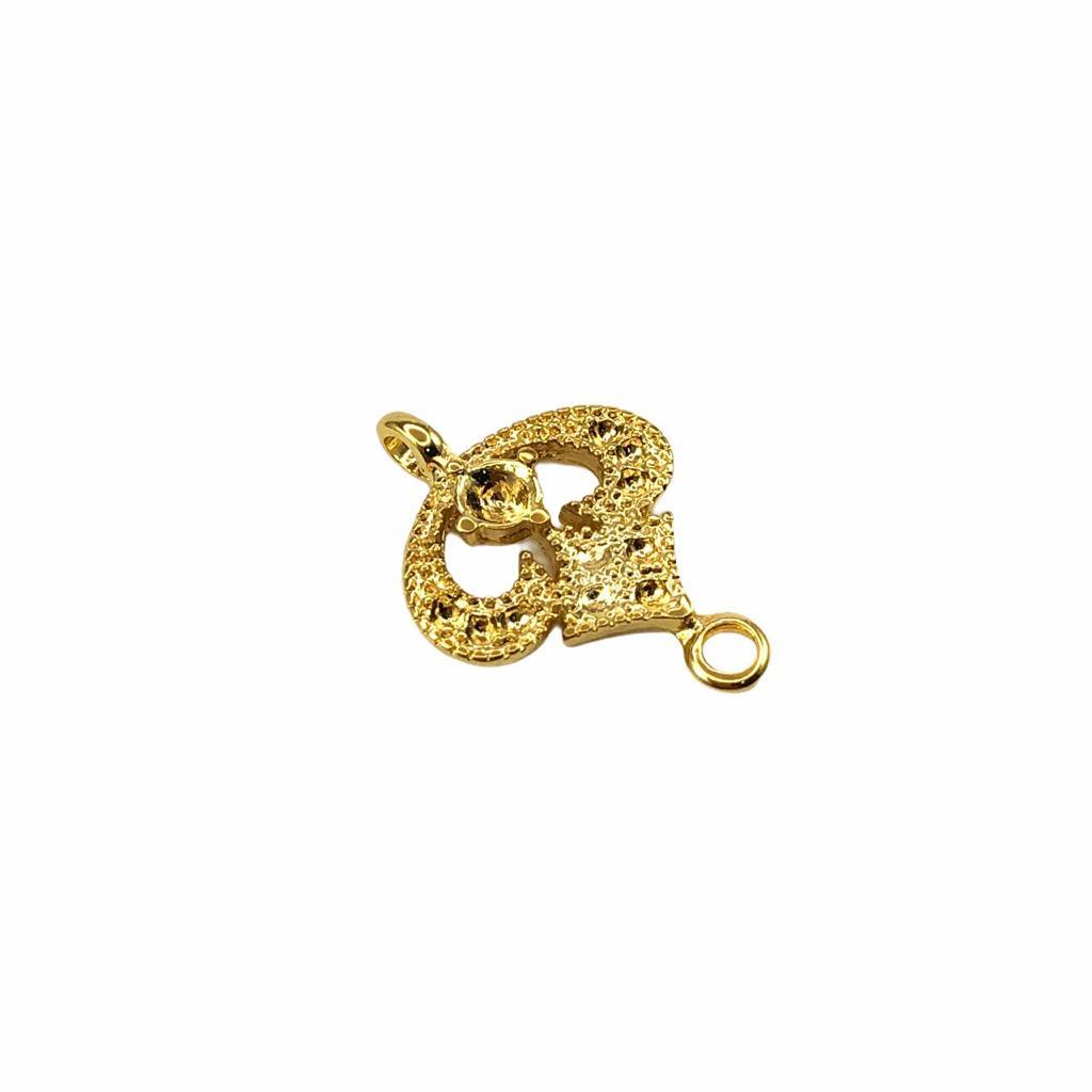 ETM508 - Entremeio Banhado Cor Dourado - 2Unids