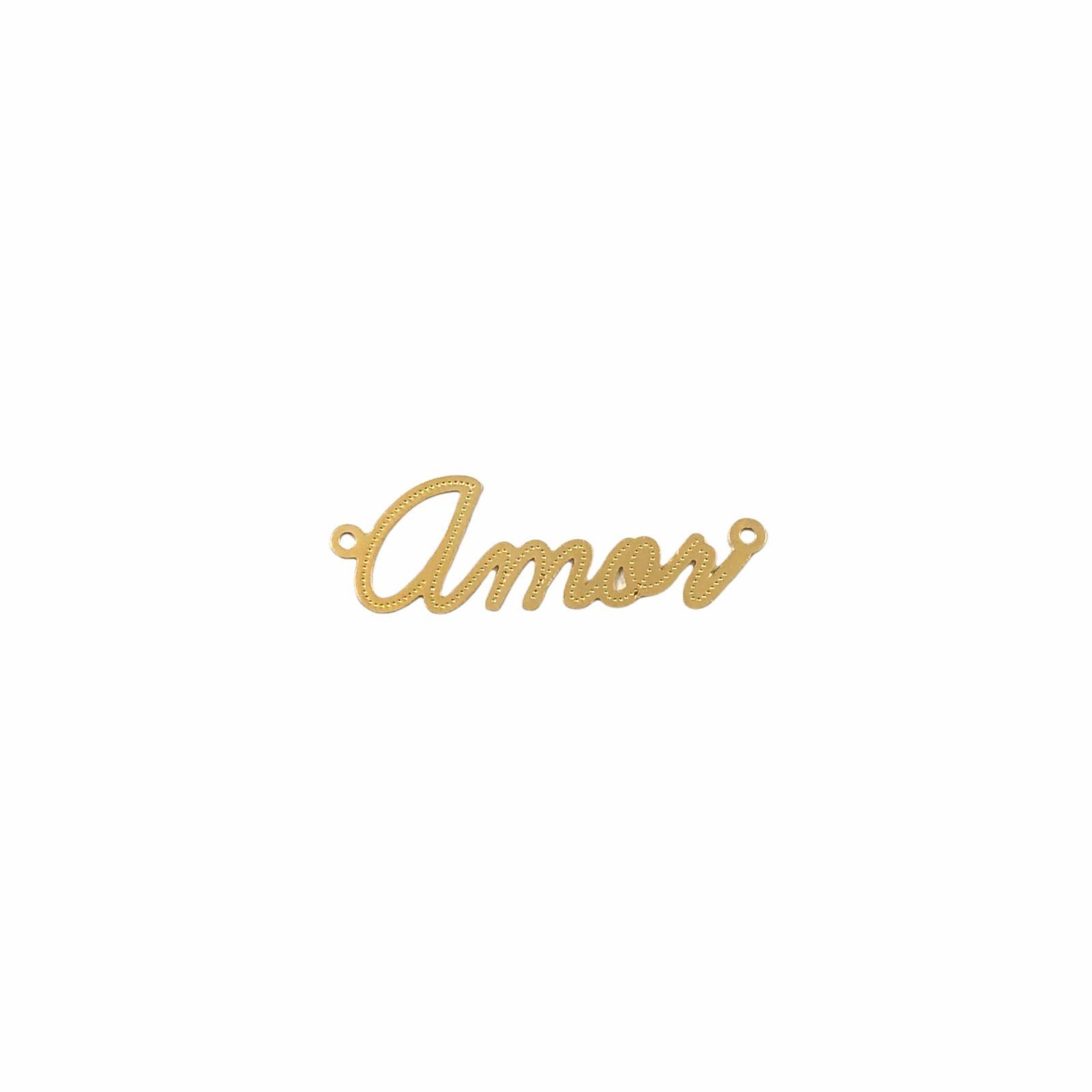 ETM571 - Entremeio Amor Banhado Cor Dourado - 1Unid