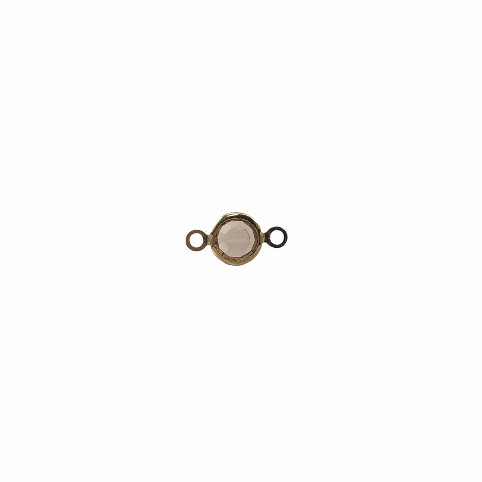 ETM601 - Entremeio De Vidro Gold 6mm Banhado Cor Dourado - 4Unids