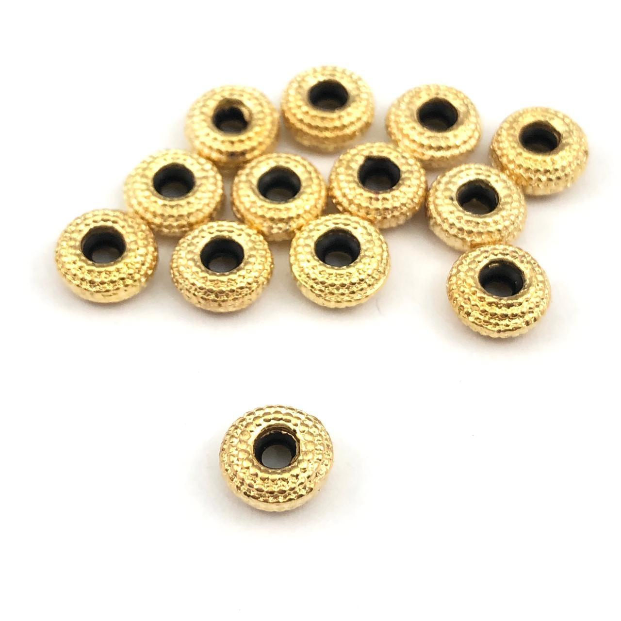FC128 - Fecho Gravata 6mm Folheado 1mls Ouro - 02Unids