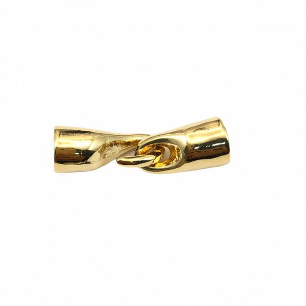 FC179 - Fecho Anzol 30mm Banhado Cor Dourado - 01Conjunto