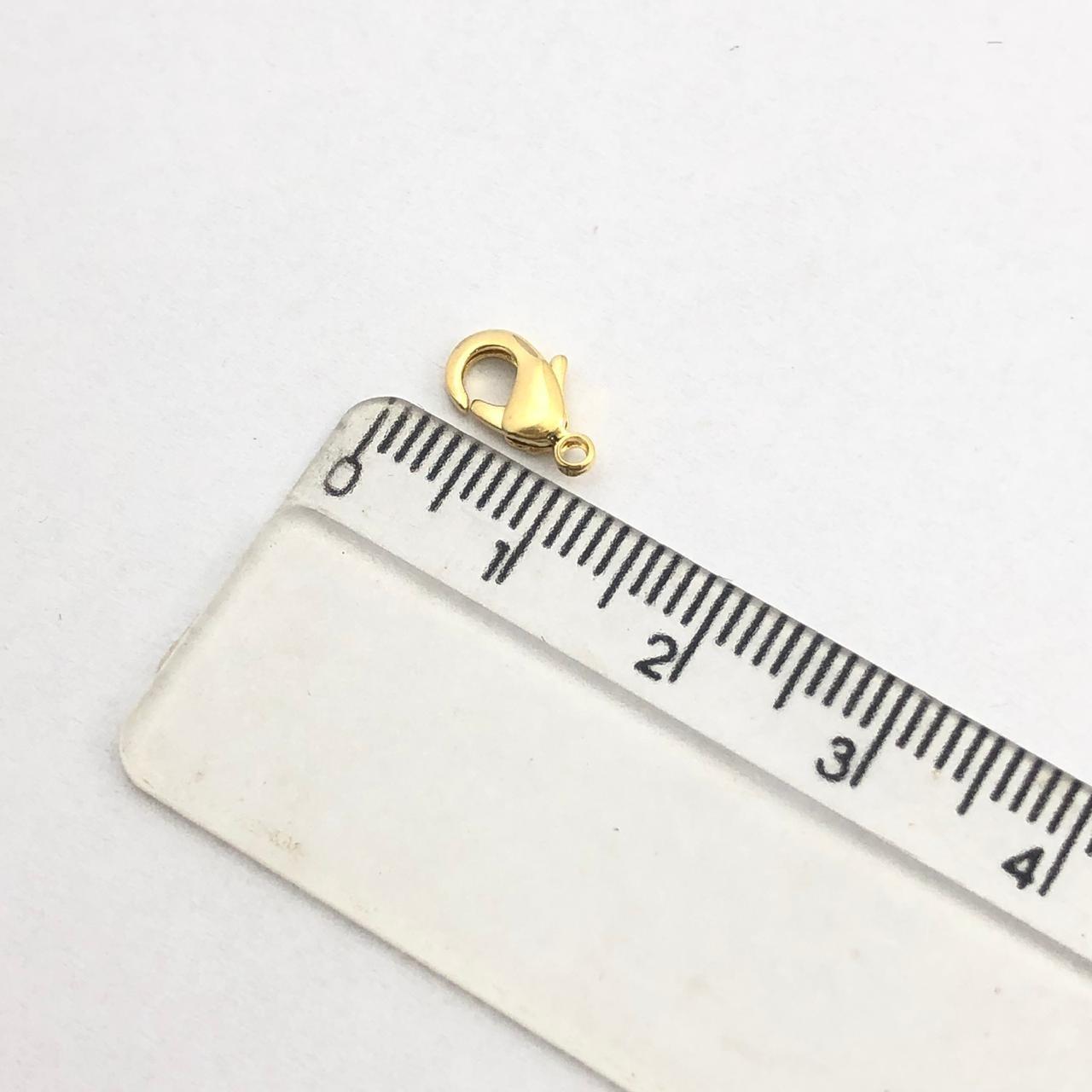 FC37 - Fecho Lagosta 10mm Folheado 1mls Ouro - 04Unids