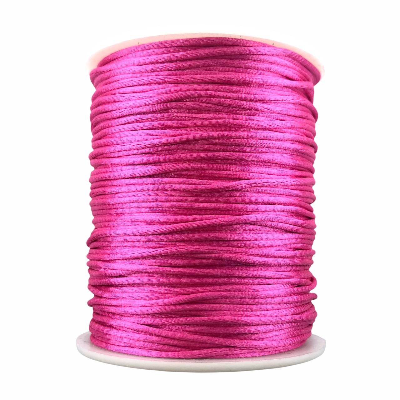 FS05 - Fio de Seda 1mm Pink Claro - 5metros