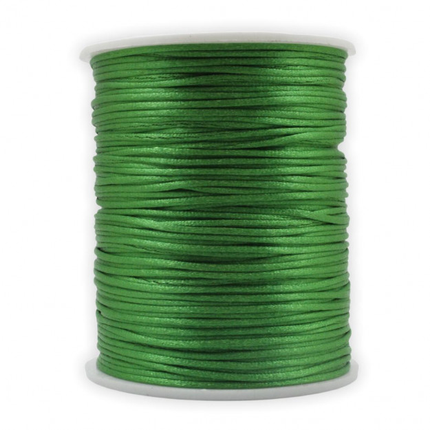 FS06 - Fio de Seda 1mm Verde Bandeira - 5metros