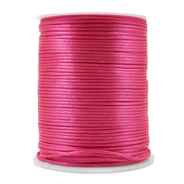 FS07 - Fio de Seda 1mm Rosa Neon - 5metros