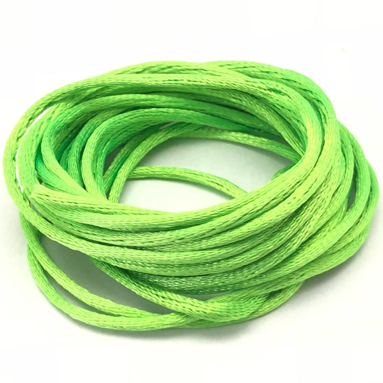 FS08 - Fio de Seda Verde Fluor - 3metros