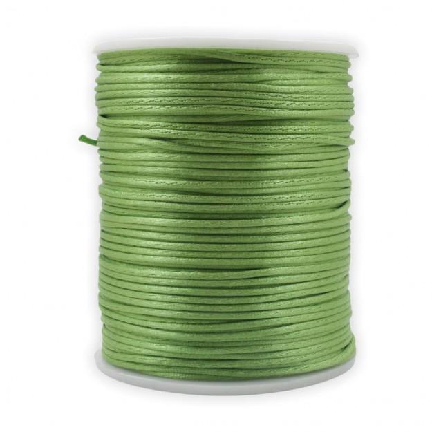 FS19 - Fio de Seda 1mm Verde Olivine - 5metros