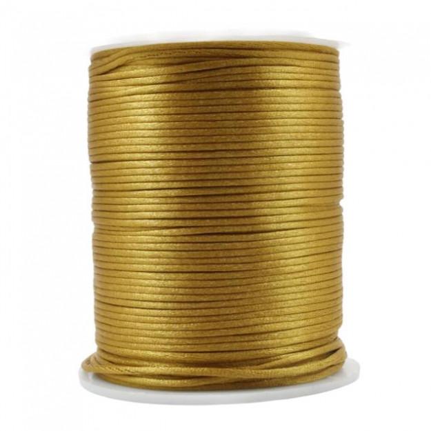 FS23 - Fio de Seda 1mm Dourado - 5metros