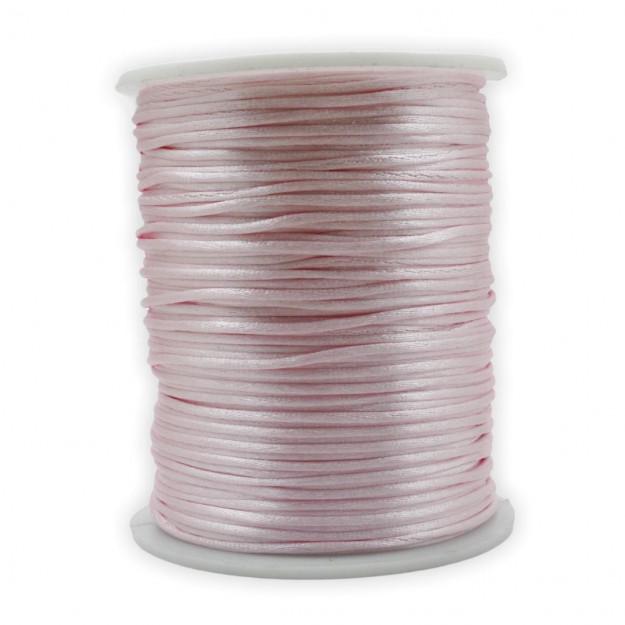 FS24 - Fio de Seda 1mm Rosa Bebê - 5metros
