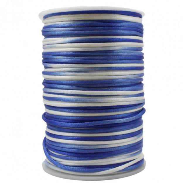FS30 - Fio de Seda 2mm Tie Dye Azul - 5metros