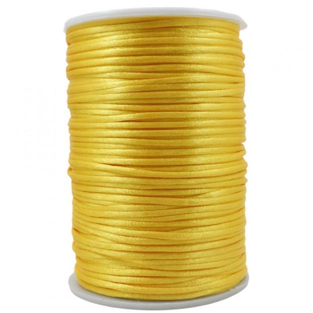 FS33 - Fio de Seda 2mm Amarelo - 5metros