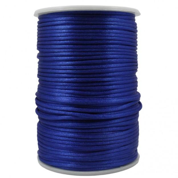 FS35 - Fio de Seda 2mm Azul Royal - 5metros